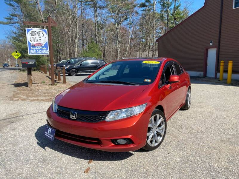 2012 Honda Civic for sale at Hornes Auto Sales LLC in Epping NH