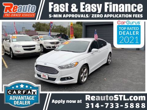 2016 Ford Fusion for sale at Reauto in Saint Louis MO