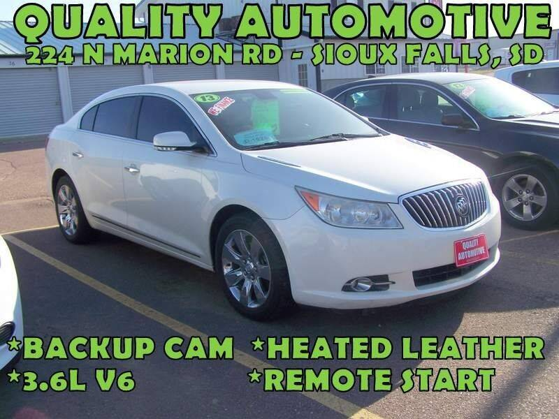 2013 Buick LaCrosse for sale at Quality Automotive in Sioux Falls SD