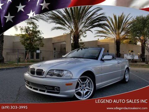 2002 BMW 3 Series for sale at Legend Auto Sales Inc in Lemon Grove CA