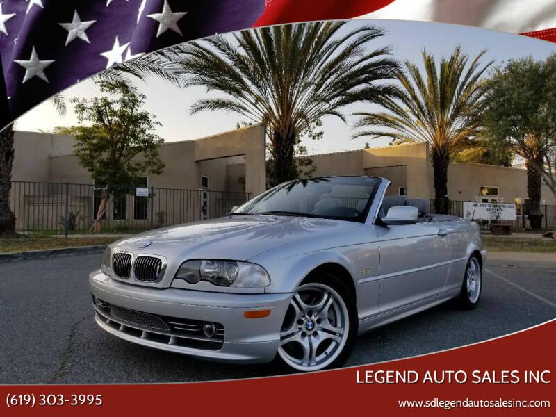 2002 BMW 3 Series for sale at Legend Auto Sales Inc in Lemon Grove CA