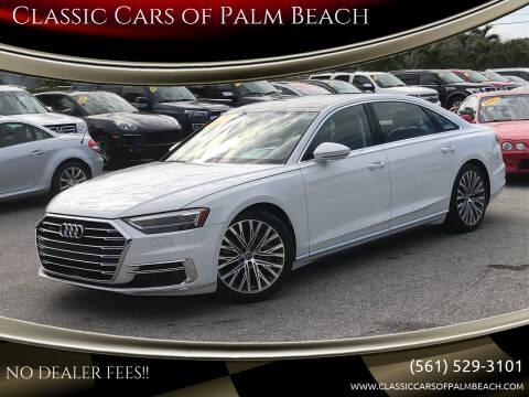 2019 Audi A8 L for sale at Classic Cars of Palm Beach in Jupiter FL