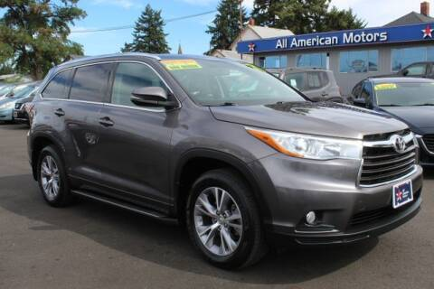 2015 Toyota Highlander for sale at All American Motors in Tacoma WA