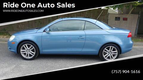 2008 Volkswagen Eos for sale at Ride One Auto Sales in Norfolk VA