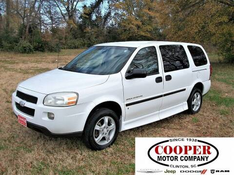 2008 Chevrolet Uplander for sale at Cooper Motor Company in Clinton SC