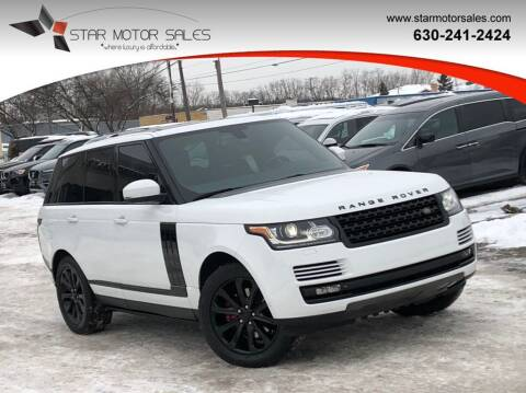2015 Land Rover Range Rover for sale at Star Motor Sales in Downers Grove IL