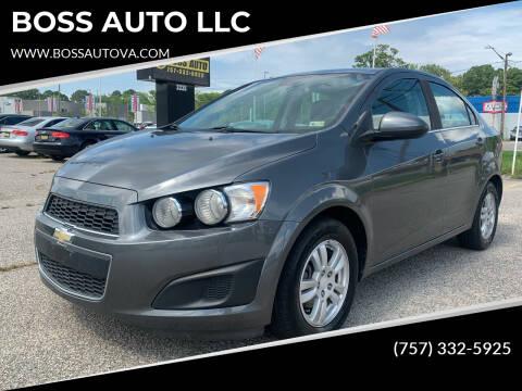 2013 Chevrolet Sonic for sale at BOSS AUTO LLC in Norfolk VA