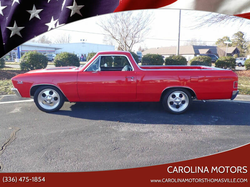 1967 Chevrolet El Camino for sale at CAROLINA MOTORS - Carolina Classics & More-Thomasville in Thomasville NC