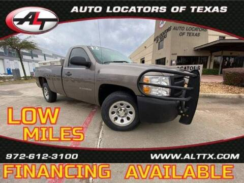 2012 Chevrolet Silverado 1500 for sale at AUTO LOCATORS OF TEXAS in Plano TX