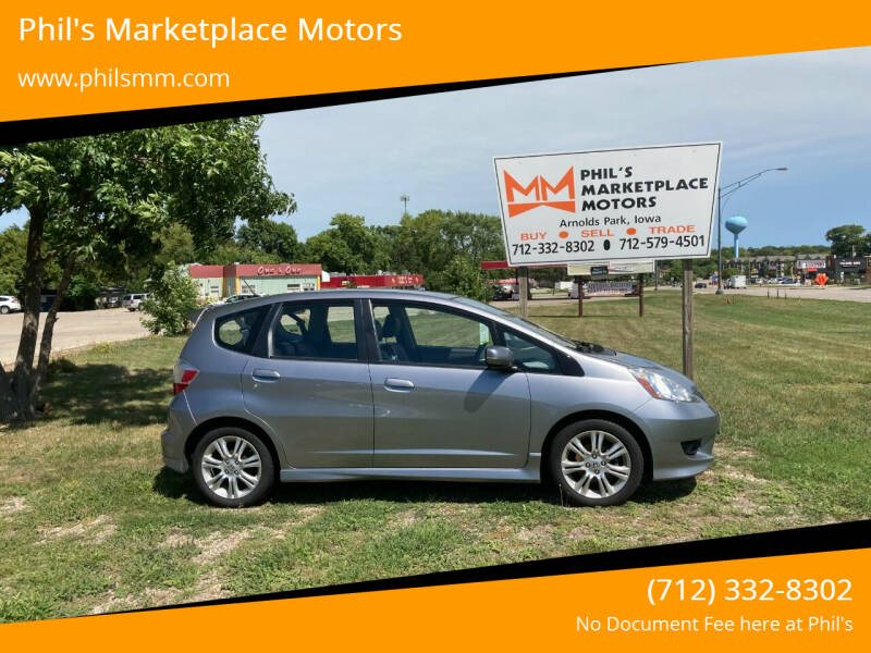 2009 Honda Fit for sale at Phil's Marketplace Motors in Arnolds Park IA