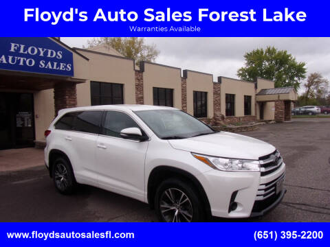 2017 Toyota Highlander for sale at Floyd's Auto Sales Forest Lake in Forest Lake MN