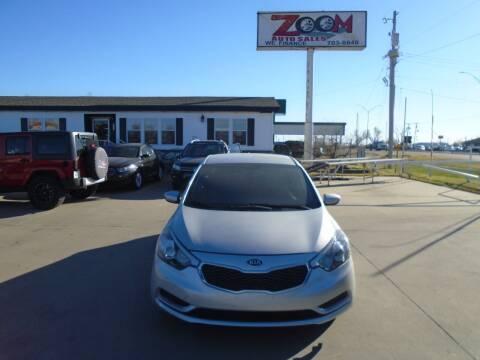 2016 Kia Forte for sale at Zoom Auto Sales in Oklahoma City OK