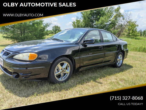 2000 Pontiac Grand Am for sale at OLBY AUTOMOTIVE SALES in Frederic WI