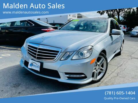 2013 Mercedes-Benz E-Class for sale at Malden Auto Sales in Malden MA