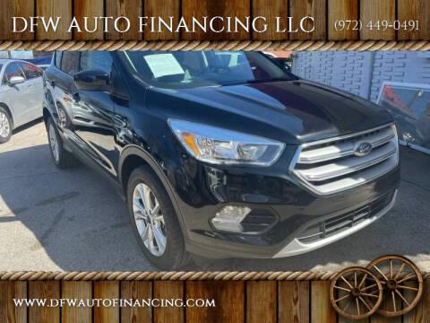 2018 Ford Escape for sale at DFW AUTO FINANCING LLC in Dallas TX