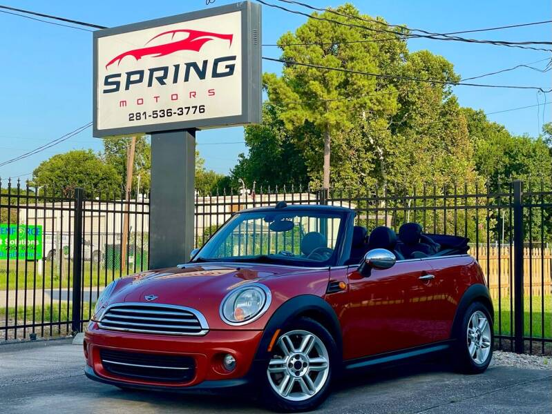2012 MINI Cooper Convertible for sale at Spring Motors in Spring TX