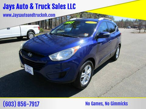 2012 Hyundai Tucson for sale at Jays Auto & Truck Sales LLC in Loudon NH