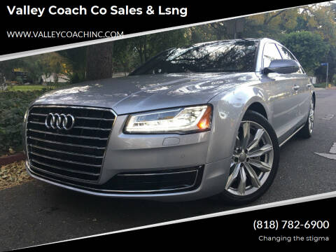 2016 Audi A8 L for sale at Valley Coach Co Sales & Lsng in Van Nuys CA