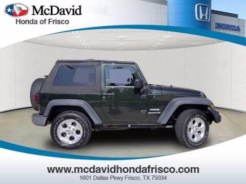 2010 Jeep Wrangler for sale at DAVID McDAVID HONDA OF IRVING in Irving TX