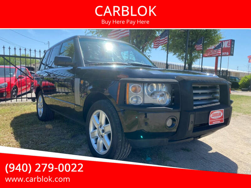 2005 Land Rover Range Rover for sale at CARBLOK in Lewisville TX
