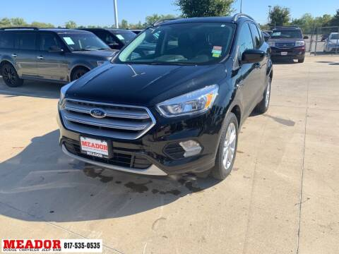 2018 Ford Escape for sale at Meador Dodge Chrysler Jeep RAM in Fort Worth TX