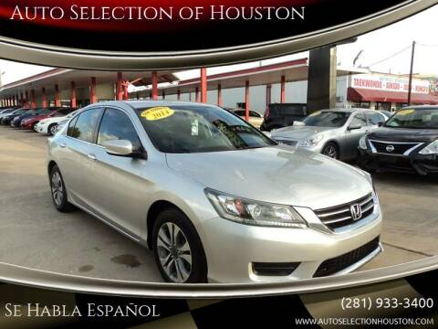 2014 Honda Accord for sale at Auto Selection of Houston in Houston TX