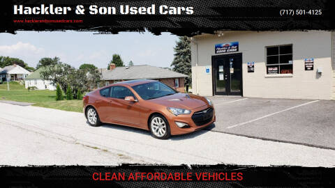2013 Hyundai Genesis Coupe for sale at Hackler & Son Used Cars in Red Lion PA