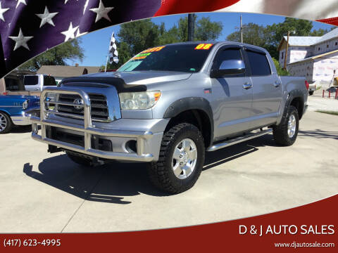 2008 Toyota Tundra for sale at D & J AUTO SALES in Joplin MO
