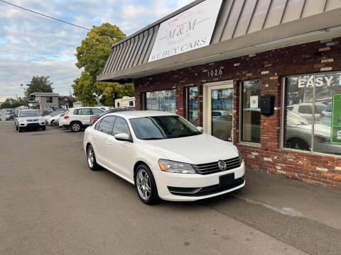 2012 Volkswagen Passat for sale at M&M Auto Sales in Portland OR