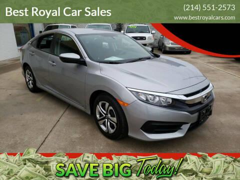 2018 Honda Civic for sale at Best Royal Car Sales in Dallas TX