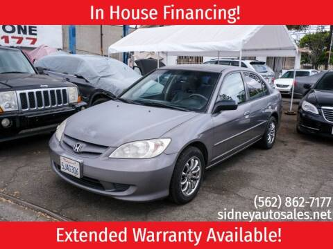 2004 Honda Civic for sale at Sidney Auto Sales in Downey CA