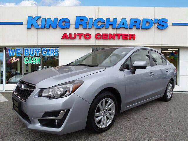 2016 Subaru Impreza for sale at KING RICHARDS AUTO CENTER in East Providence RI