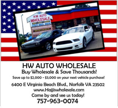 2007 Toyota Camry for sale at HW Auto Wholesale in Norfolk VA