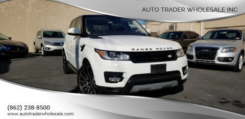 2016 Land Rover Range Rover Sport for sale at Auto Trader Wholesale Inc in Saddle Brook NJ