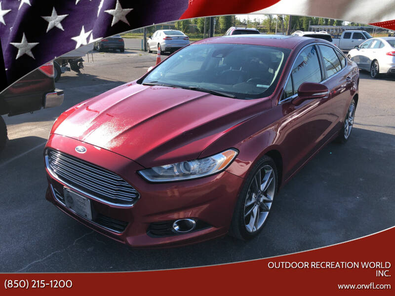 2014 Ford Fusion for sale at Outdoor Recreation World Inc. in Panama City FL