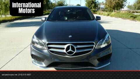 2014 Mercedes-Benz E-Class for sale at International Motors in San Pedro CA
