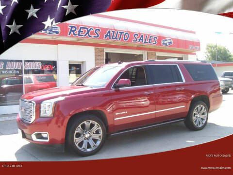 2015 GMC Yukon XL for sale at Rex's Auto Sales in Junction City KS