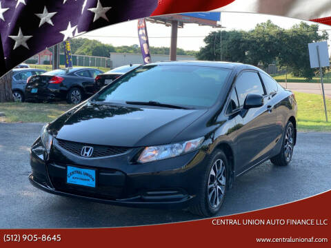 2013 Honda Civic for sale at Central Union Auto Finance LLC in Austin TX