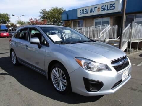 2013 Subaru Impreza for sale at Salem Auto Sales in Sacramento CA