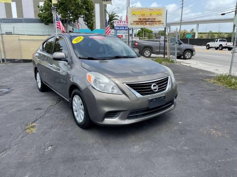 2014 Nissan Versa for sale at MIAMI AUTO LIQUIDATORS in Miami FL