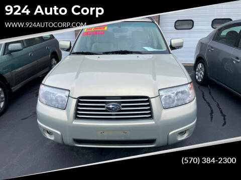 2007 Subaru Forester for sale at 924 Auto Corp in Sheppton PA