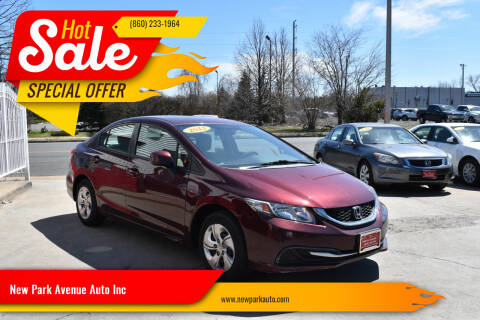 2013 Honda Civic for sale at New Park Avenue Auto Inc in Hartford CT