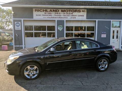 2007 Saturn Aura for sale at Richland Motors in Cleveland OH