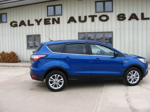 2017 Ford Escape for sale at Galyen Auto Sales Inc. in Atkinson NE