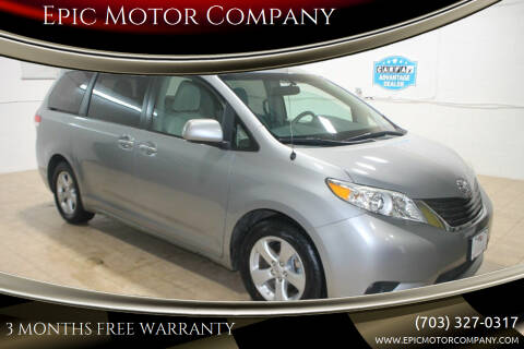 2012 Toyota Sienna for sale at Epic Motor Company in Chantilly VA