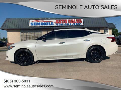 2016 Nissan Maxima for sale at Seminole Auto Sales in Seminole OK