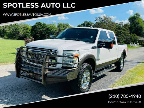 2015 Ford F-250 Super Duty for sale at SPOTLESS AUTO LLC in San Antonio TX