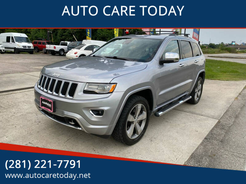 2014 Jeep Grand Cherokee for sale at AUTO CARE TODAY in Spring TX