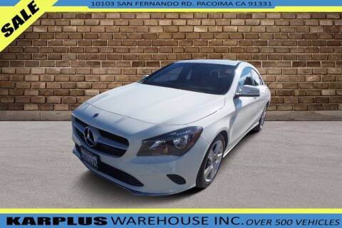 2018 Mercedes-Benz CLA for sale at Karplus Warehouse in Pacoima CA