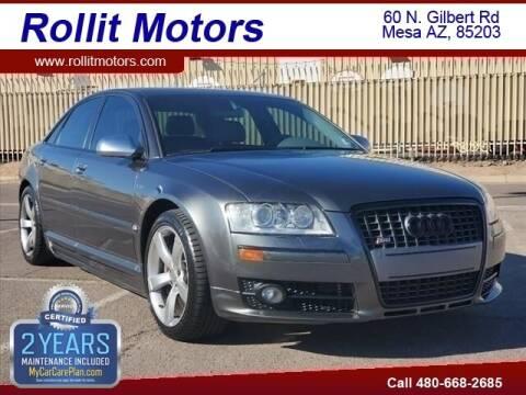 2007 Audi S8 for sale at Rollit Motors in Mesa AZ